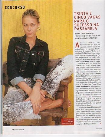 Revista Quem - Anna Hickmann